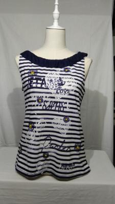camiseta de tirantes rayas marineras