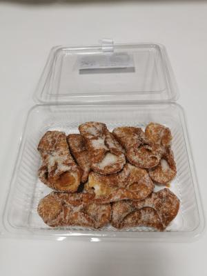 Caja de pestiños de azúcar