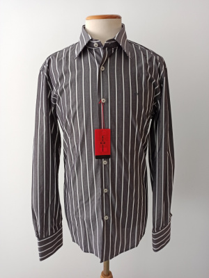 Camisa CRO entallada rayas gris - Carlos Cordoba